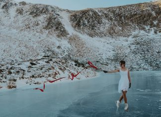 На замерзлому карпатському озері Бребенескул влаштували фігурне катання