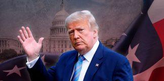 Сумний Трамп повертається в Білий Дім після того, як дізнався про поразку. Фото
