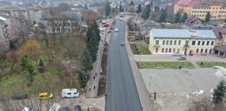 В Коломийському районі відремонтували частину асфальтного покриття на дорозі державного значення
