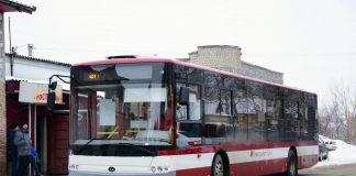 Через ожеледицю комунальні автобуси Франківська змінили свій маршрут